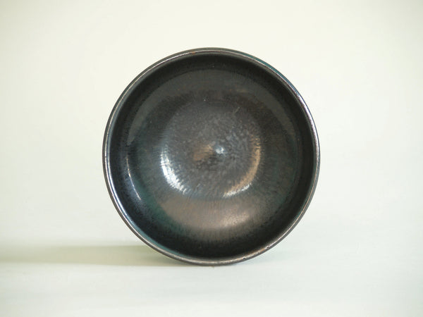 Coupe noire de Robert Picault, France (vers 1948)..Back Bowl by Robert Picault, France (circa 1948)