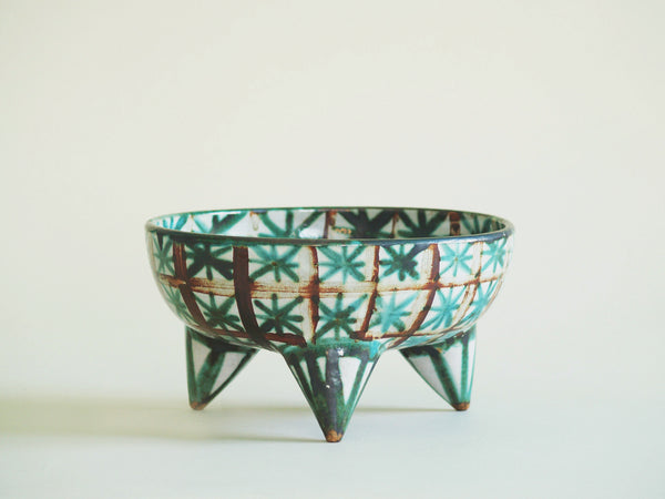 Grande coupe tripode de Robert Picault, France (vers 1948)..Large tripod Bowl by Robert Picault, France (circa 1948)
