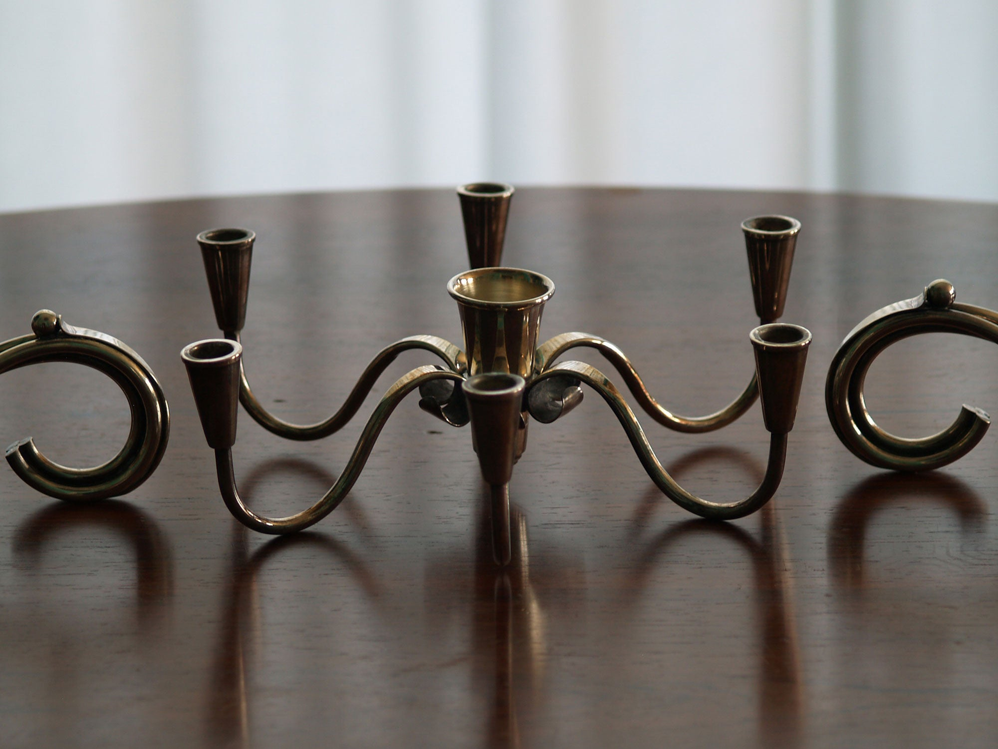 Surtout / Centre de table de Carl F. Christiansen, Danemark (vers 1945)..Table centerpiece by Carl F. Christiansen, Denmark (circa 1945)
