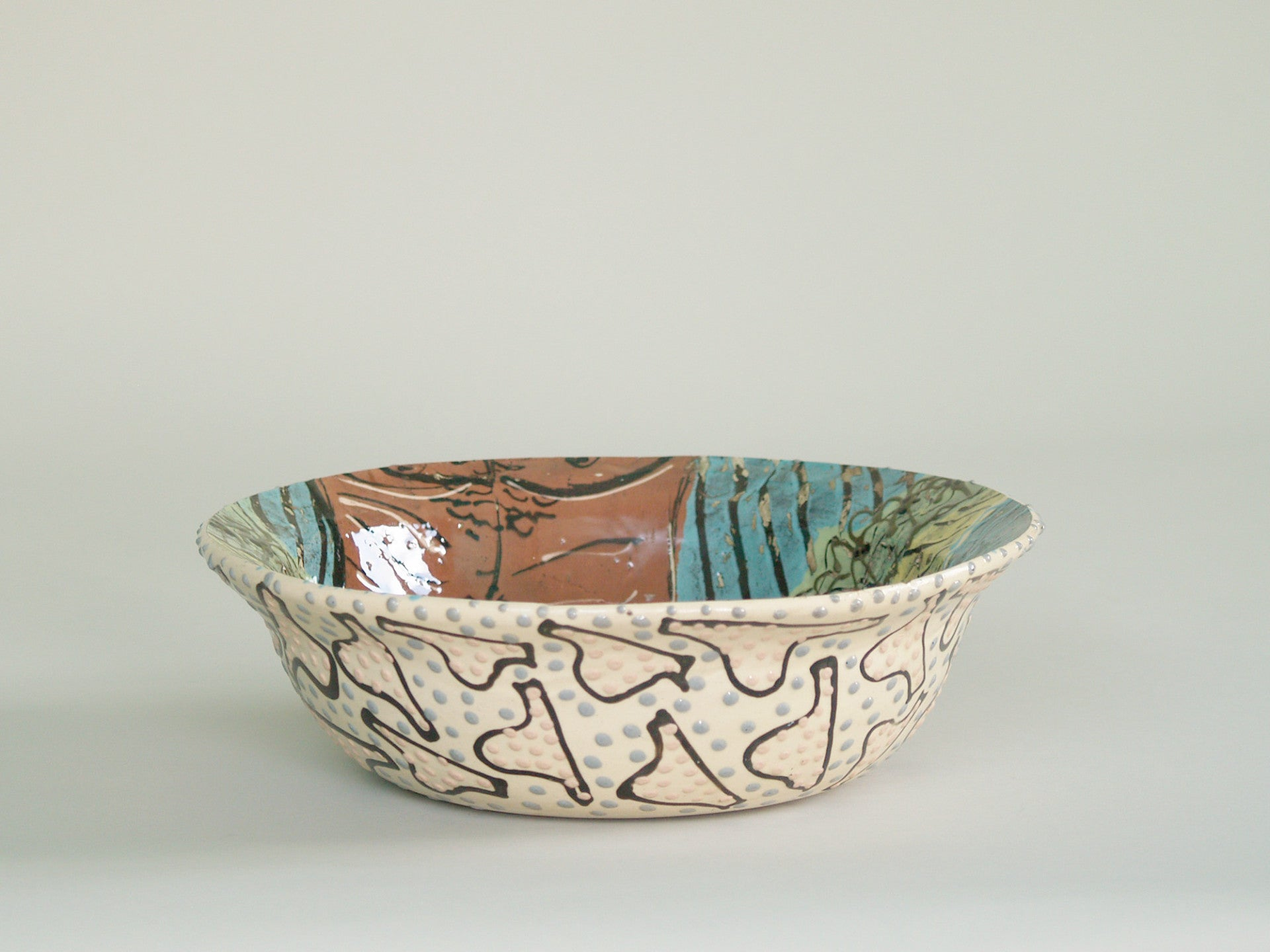 Coupe de Lincoln Kirby-Bell, Angleterre (1991)..Large bowl by Lincoln Kirby-Bell, United‑Kingdom (1991)