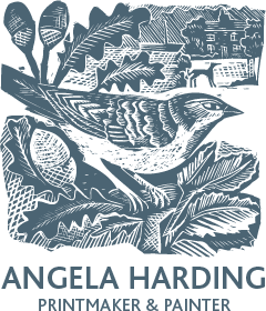 Angela Harding linocut  prints and gifts