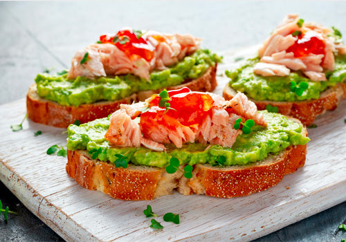 Avocado and Salad on toast