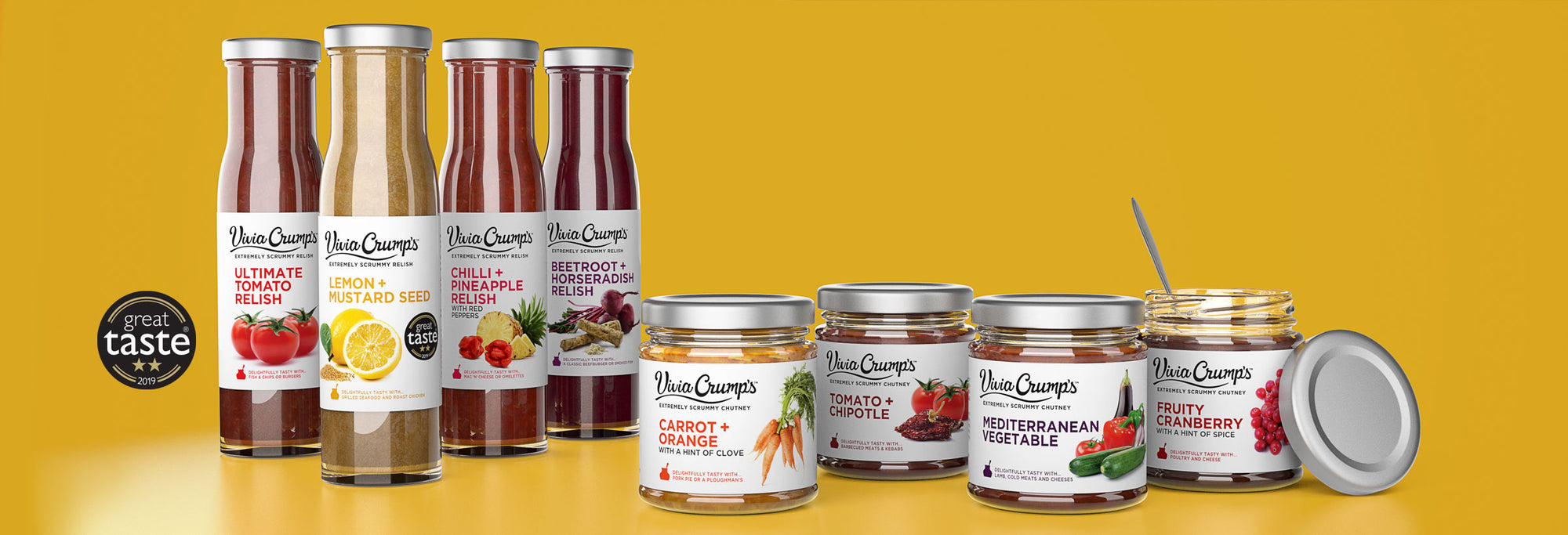 Award winning relishes and chutneys by Vivia Crumps