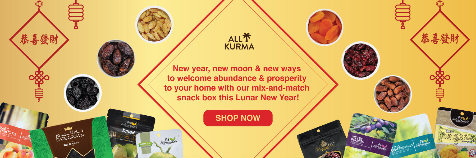 chinese new year snacks, halal cny snacks, dried fruits, dried nuts, dried dates, mix & match bundle, healthy snacks singapore, buy healthy snacks, halal snacks singapore, healthy cny snacks