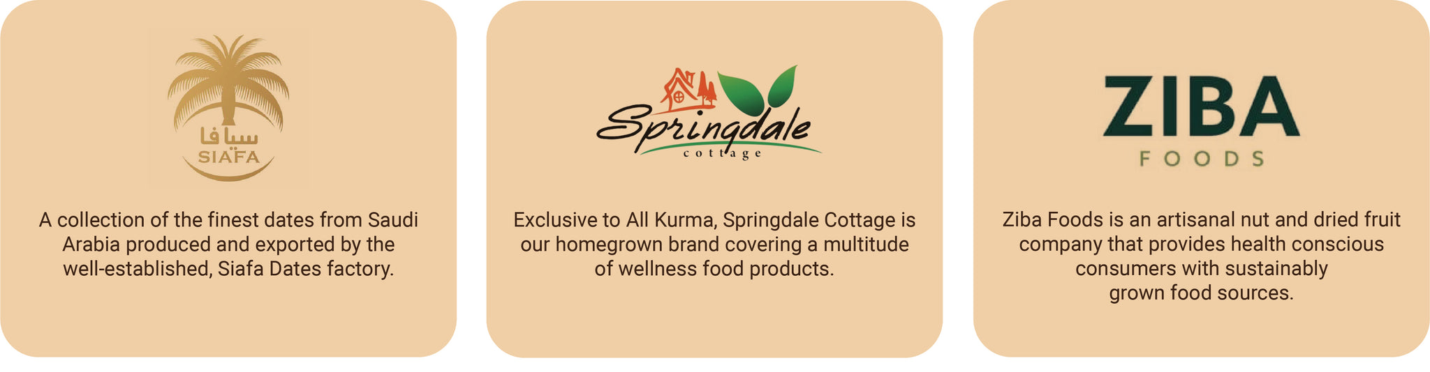 Siafa Dates, Springdale Cottage, Ziba Foods, All Kurma Singapore, Fruits and Nuts Singapore