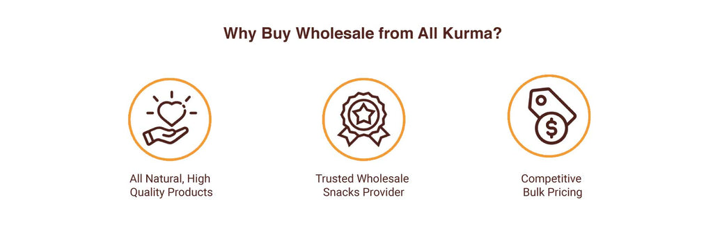 Why Buy Wholesale from All Kurma, All Kurma Singapore, Wholesale Dried Fruits, Nuts, Dates & More, All Natural High Quality Products, Trusted Healthy Snacks Provider