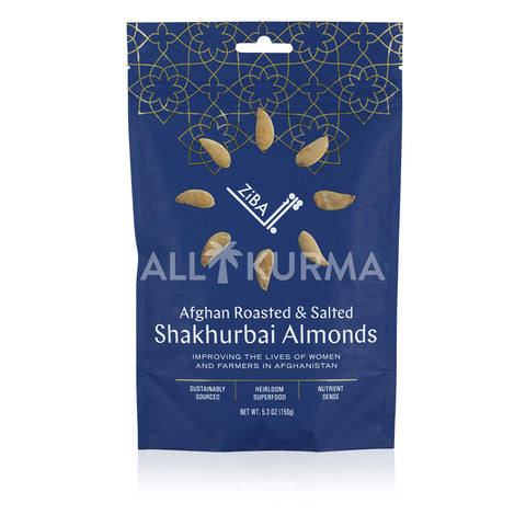 ZiBA Afghan Roasted and Salted Shakhurbai Almonds 150 Gram