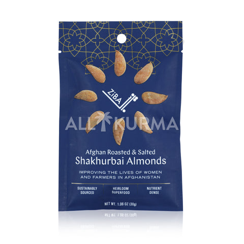 ZiBA Afghan Roasted and Salted Shakhurbai Almonds 30 Gram
