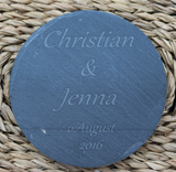 PERSONALISED Round or Square Engraved Coasters - Set of 4 - Toccami - 3
