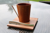 Coffee Set: Wooden Cup, Wooden Server and One Stirrer 150 Spoon with Engraving