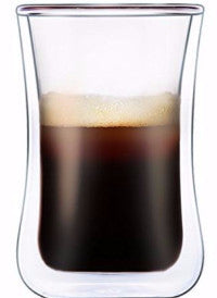 Double Walled Glass Espresso Coffee / mini Latte / mini Cappuccino / Tea Cup 3.4oz (4x Cups)