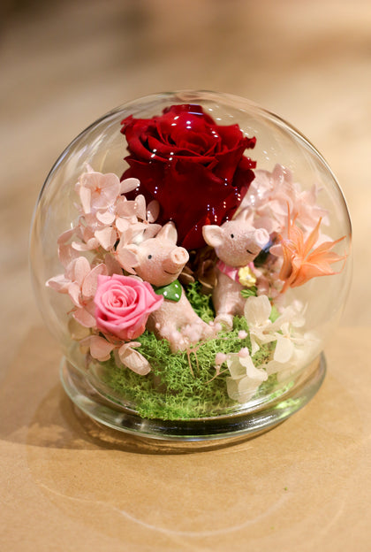 Valentine's Day 2019 Preserved Flower Dome