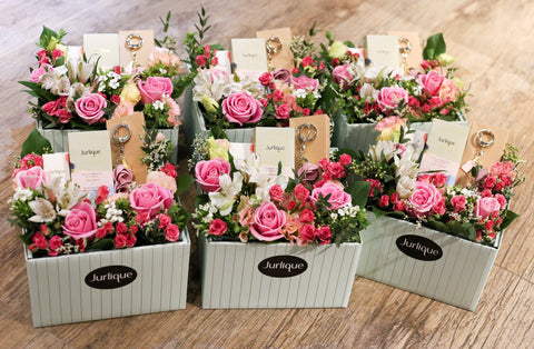 jurlique flower box with rose hand cream