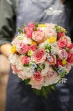 Colourful bouquet | Roses bouquet | Bridal Bouquet for weddings | Lily Sarah Floral Studio | Simply elegant bouquet | 新娘 花球 結婚花球 婚禮 Club One Shatin Hyatt