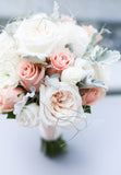 Divine white garden roses garden rose bridal bouquet weddings Lily Sarah Floral Studio 新娘花球 沙田 科學園 Club One Shatin Hyatt 沙田凱悅