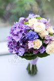 Purple hydrangea champagne spray roses bouquet, Lily Sarah Floral Studio, Club One Science Park, Shatin Hyatt, 新娘花球, 婚禮