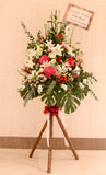 Fuchsia hydrangea and lily flower basket for grand opening | 開張花籃 開業花 花店 科學園沙田 鮮花