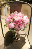 Elegant and classic peony bridal bouquet by Lily Sarah Floral Studio 田園boho風新娘花球 牡丹花球 科學園花店