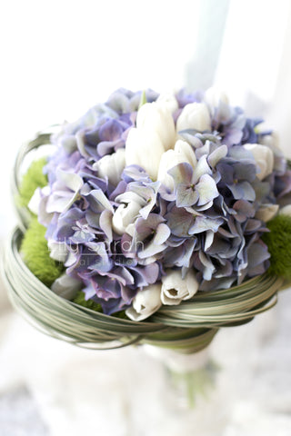 Vintage purple hydrangea bouquet, bridal bouquet, Lily Sarah Floral Studio, Club One Science Park, Shatin Hyatt, 新娘花球, 婚禮