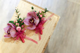 Bridal bouquet, orchid boutonnieres and corsages 新娘花球 蕙蘭 襟花