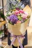 情人節花束 鮮花速遞 玫瑰 科學園花店 valentines day flower purple bouquet Hong Kong Science Park