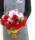 [A10004] Premium red roses and orchids