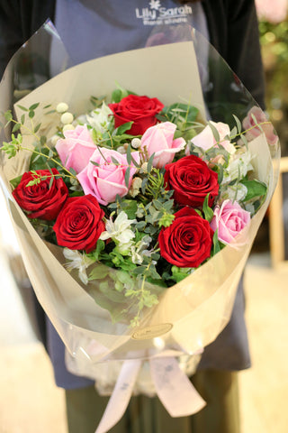mother's day bouquet, red rose bouquet, valentine's bouquet 玫瑰花束, 情人節花束, 母親節花束, 香港花店, hong kong florist, flower shop