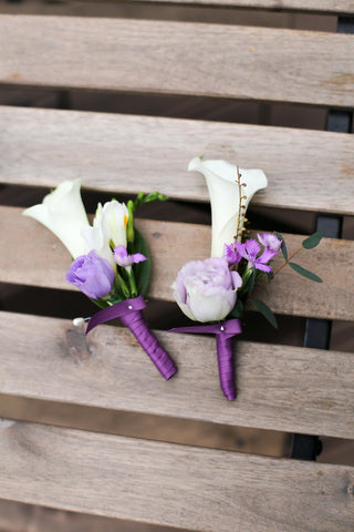Cream calla lily boutonniere corsage, Lily Sarah Floral Studio, Club One Science Park, Shatin Hyatt, 新娘花球, 婚禮, 新郎襟花,馬蹄蘭
