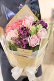 Fuchsia hydrangea and pink rose bouquet | Lily Sarah Floral Studio | 花束 花店 沙田科學園 送花 繡球 玫瑰