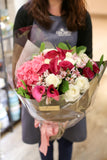 Deep Red Calla Lily, Roses and Hydrangea bouquet Lily Sarah Floral Studio | 紅色馬蹄蘭 玫瑰繡球花束 禮物 粉紅 情人節禮物 |Hong Kong Science Park 科學園 大埔 北區 花店