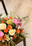 Spring Colour Arrangement | Reception / dinner table / centrepiece | Fresh Flower Arrangement | 鮮花 餐桌花 枱花 鮮花佈置 宴會花 企業月花 公司月花