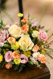 Joyful Garden Arrangement | Reception / dinner table / centrepiece | Fresh Flower Arrangement | 鮮花 餐桌花 枱花 鮮花佈置 宴會花 企業月花 公司月花