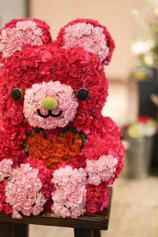 Flower Teddy Bear Floral Teddy Bear | Grand Opening / Birthday / Anniversary gift | 鮮花佈置 花花熊仔 百日宴 紀念日 生日禮物 徐子淇 小熊