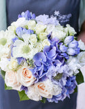 Romantic purple blue tone bouquet, bridal bouquet, Lily Sarah Floral Studio, Club One Science Park, Shatin Hyatt, 新娘花球, 婚禮