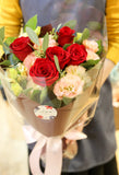 2020 valentines day bouquet red rose hong kong florist vday flowers hydrangea stars baby's breath tulips