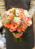 Bright colour orange rose bridal bouquet Lily Sarah Floral Studio Fresh flower bouquet 新娘花球 wedding package