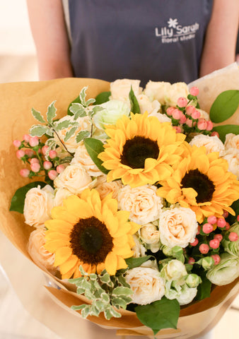 Sunflower bouquet Lily Sarah Floral Studio | 花束 花店 沙田科學園 送花 向日葵
