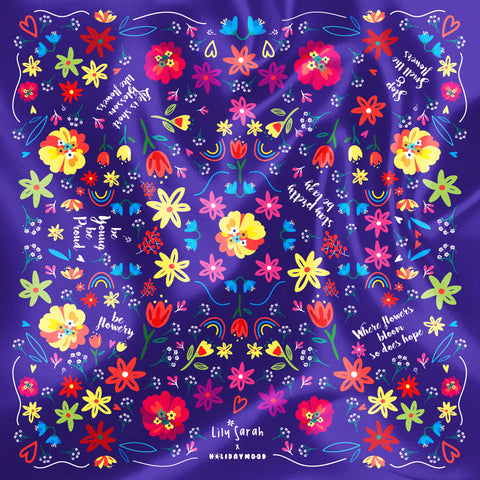 Lily Sarah x Holidaymood Scarf - Blossom Like Flowers