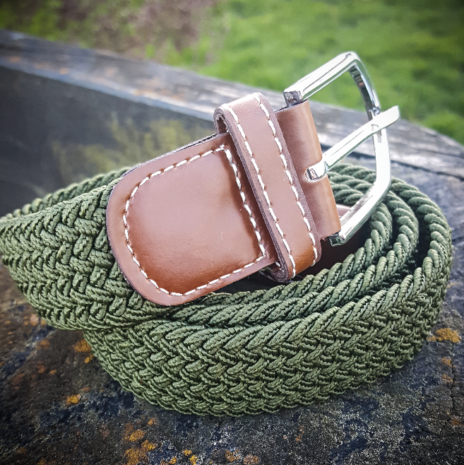 Stretch Woven Belt - Hunter Green
