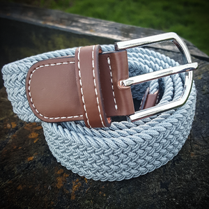 Stretch Woven Belt - Grey