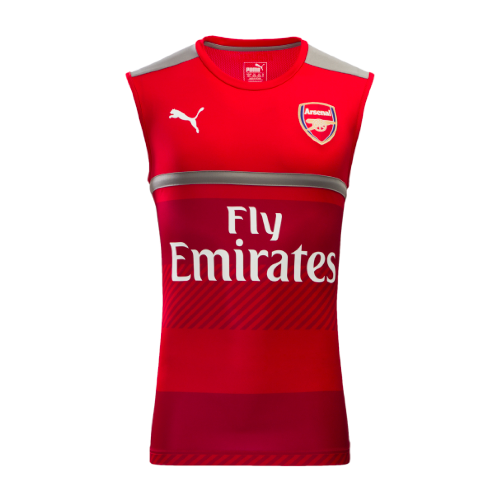 2016/17 ARSENAL FC SLEEVELESS MEN'S TRAINING VEST
