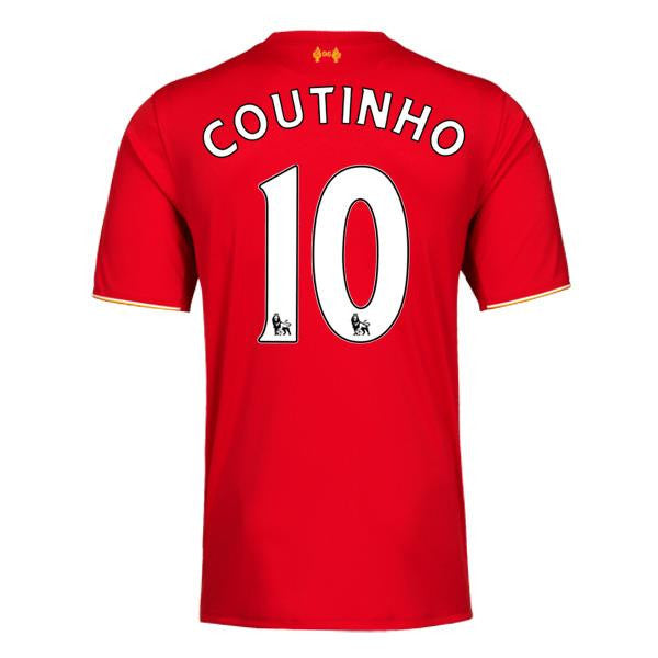2015/16 Liverpool FC SS Home Women's Jersey - Coutinho 10