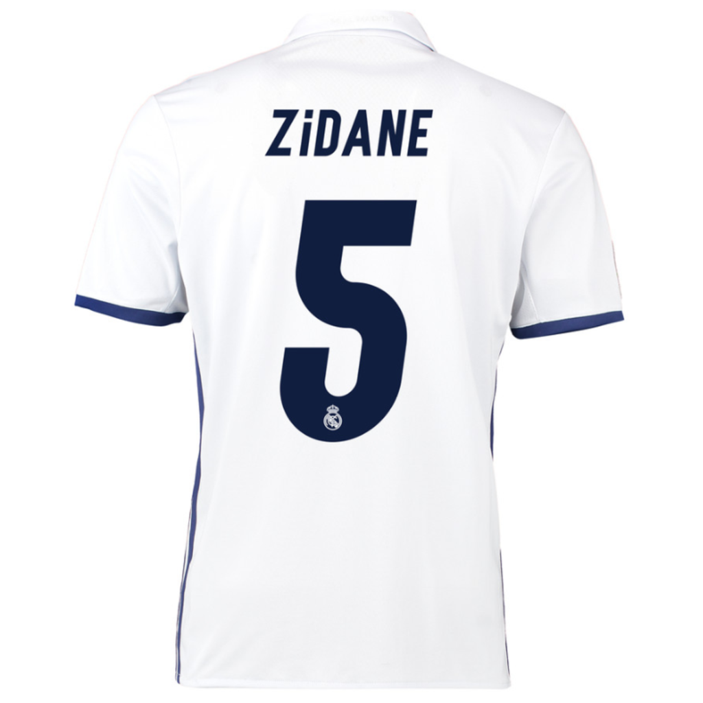 2016/17 REAL MADRID SS HOME MEN'S REPLICA JERSEY - ZIDANE 5