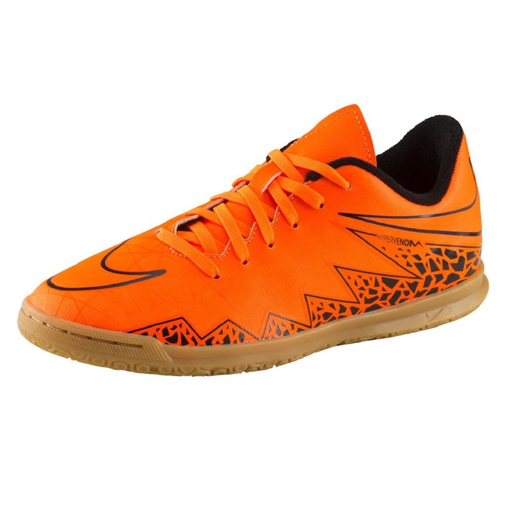 JR. HYPERVENOM PHADE II KIDS' INDOOR - Total Orange/Total Orange-Black-Black