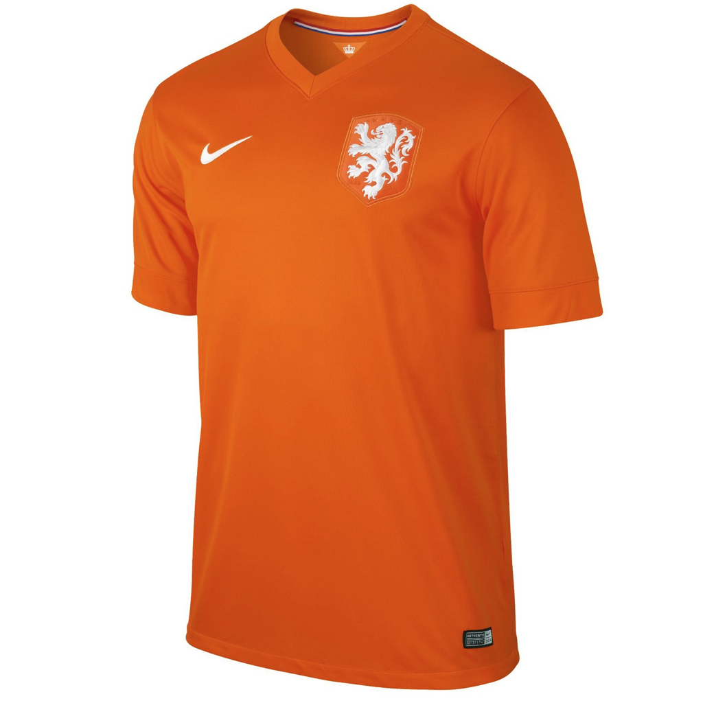 2014 HOLLAND SS HOME MEN'S STADIUM JERSEY - V. Persie 9