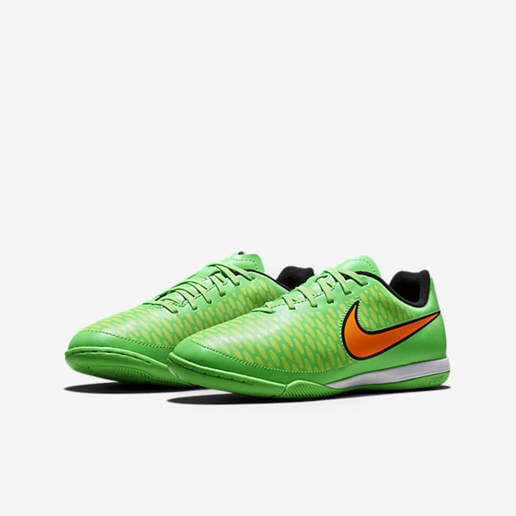 official photos 2f205 e0aa5 ... skor ( volt total orange  magista onda ic kids indoor competition  poison green flash lime