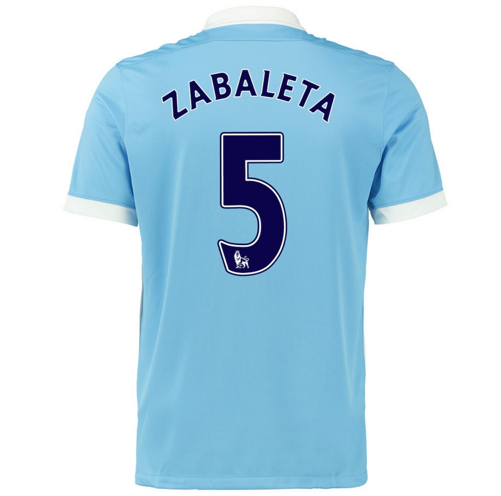 2015/16 MANCHESTER CITY FC STADIUM HOME MEN'S SOCCER JERSEY - Zabaleta 5