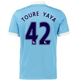 2015/16 MANCHESTER CITY FC STADIUM HOME MEN'S SOCCER JERSEY - Yaya Touré 42
