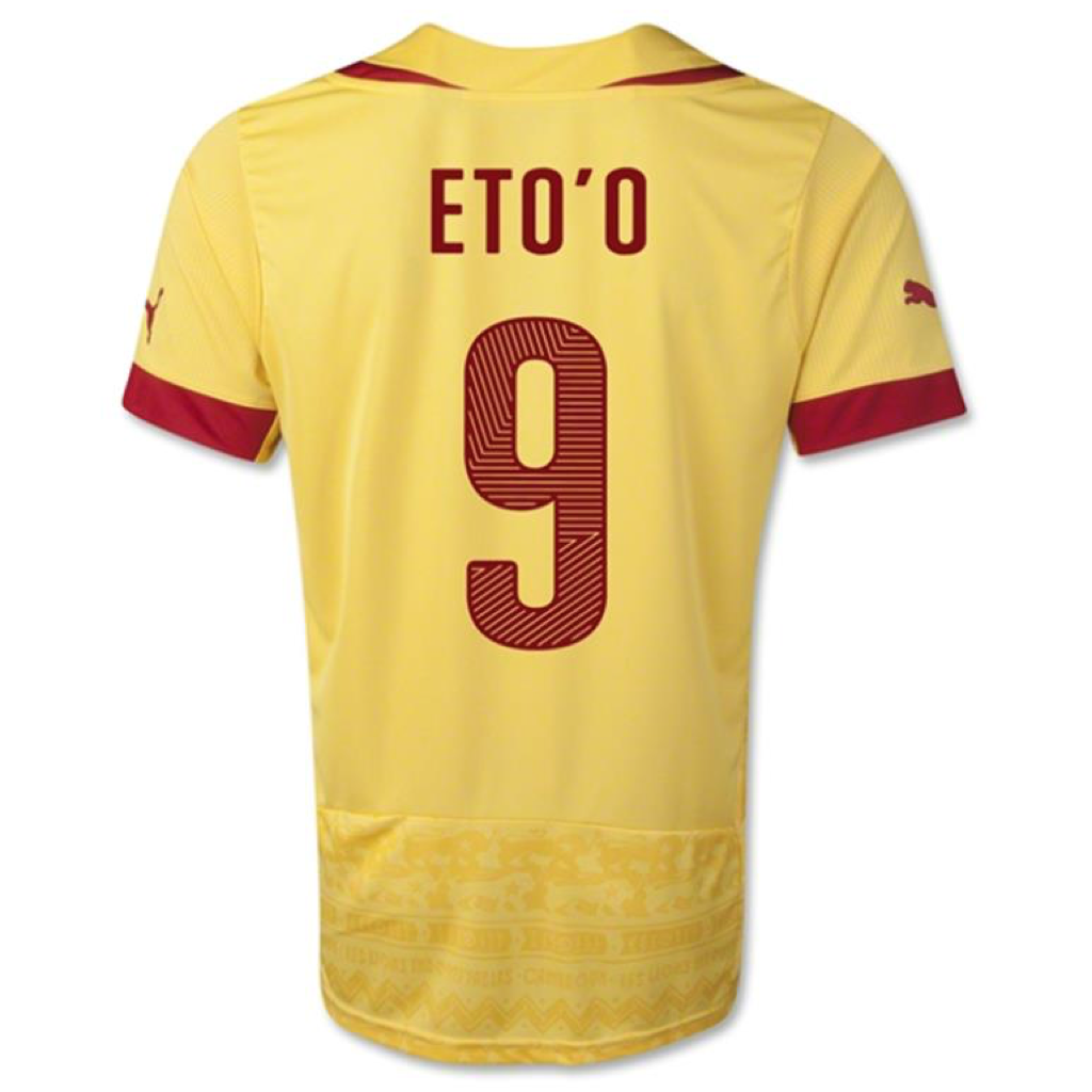 WC2014 CAMEROON AWAY MEN'S REPLICA JERSEY - Eto'o 9