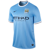 2013/14 MANCHESTER CITY FC STADIUM HOME MEN'S SOCCER JERSEY